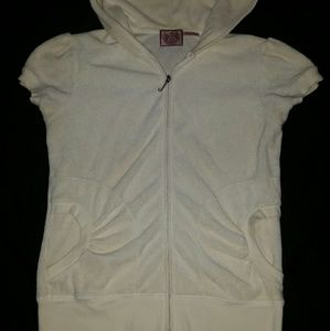 Juicy Couture cream short sleeve terry